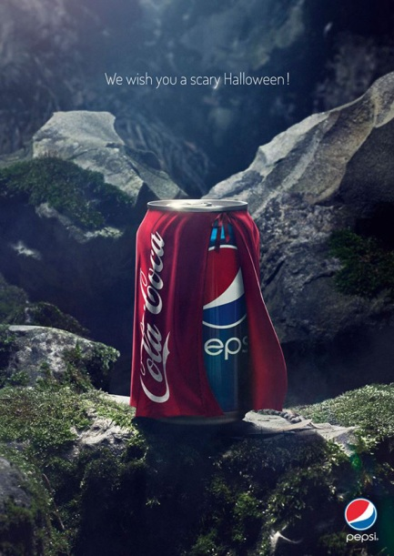 Pepsi-dressed-as-Coke-for-Halloween-AD
