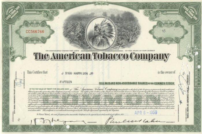 American Tobacco 1959